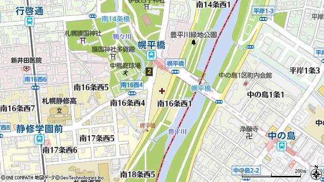 〒064-0916 北海道札幌市中央区南十六条西の地図