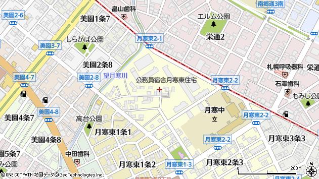 〒062-0052 北海道札幌市豊平区月寒東二条の地図