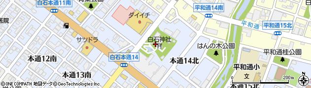 白石神社周辺の地図