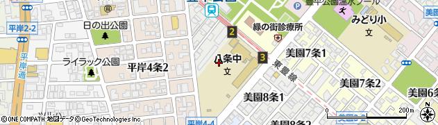 北海道札幌市豊平区豊平8条周辺の地図