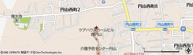 北海道札幌市中央区円山西町周辺の地図