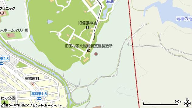〒004-0007 北海道札幌市厚別区厚別町下野幌の地図