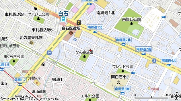 〒003-0022 北海道札幌市白石区南郷通南の地図