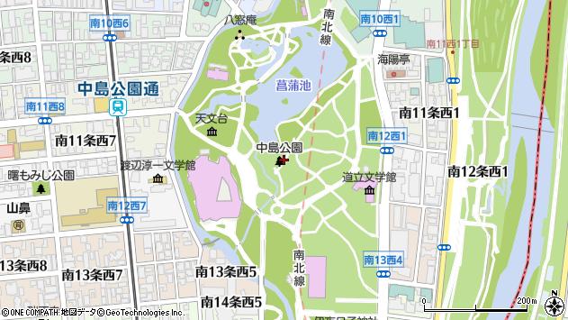 〒064-0931 北海道札幌市中央区中島公園の地図
