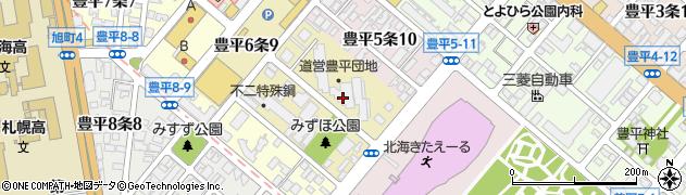 豊平団地周辺の地図
