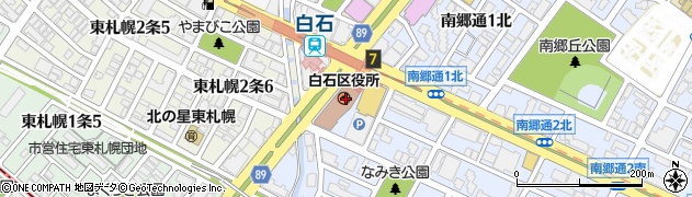 北海道札幌市白石区周辺の地図