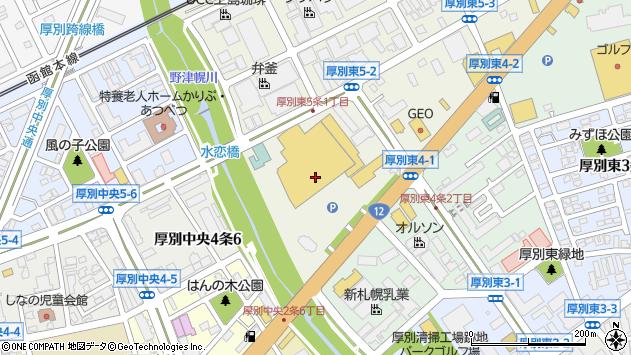 〒004-0005 北海道札幌市厚別区厚別東五条の地図