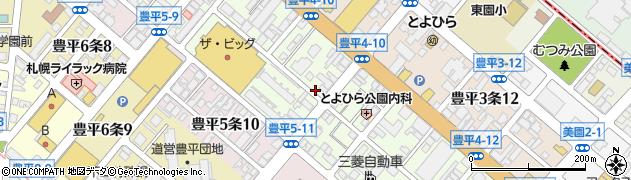 北海道札幌市豊平区豊平4条周辺の地図