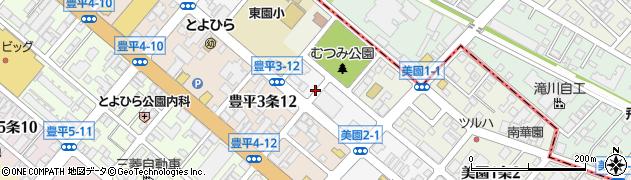 北海道札幌市豊平区豊平2条周辺の地図