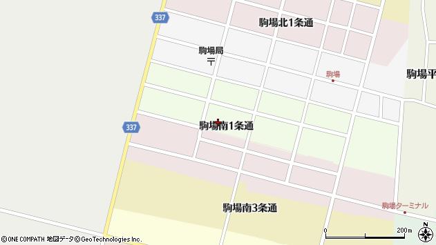 〒080-0566 北海道河東郡音更町駒場南1条通の地図