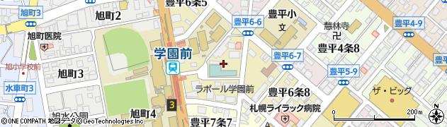 北海道札幌市豊平区豊平6条周辺の地図