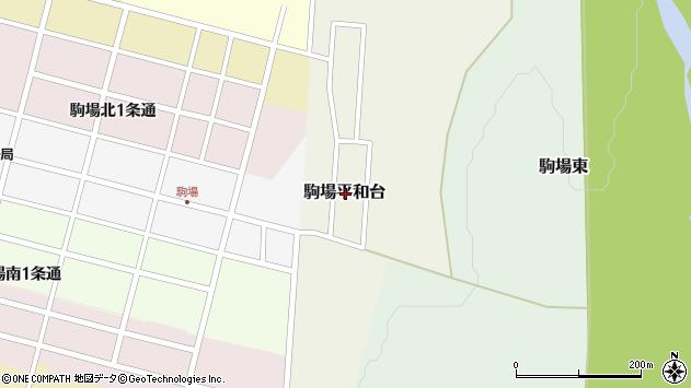 〒080-0563 北海道河東郡音更町駒場平和台の地図