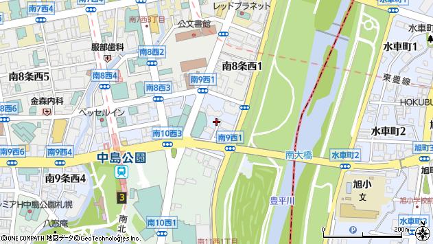 〒064-0809 北海道札幌市中央区南九条西の地図