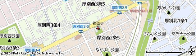 禅聖寺周辺の地図