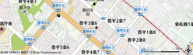 北海道札幌市豊平区豊平3条周辺の地図