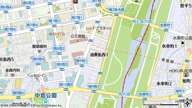 〒064-0808 北海道札幌市中央区南八条西の地図