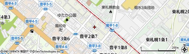 北海道札幌市豊平区豊平1条周辺の地図