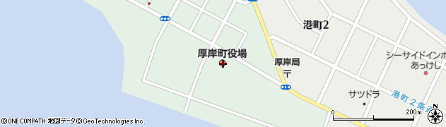 北海道厚岸郡厚岸町周辺の地図