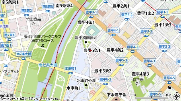 〒062-0905 北海道札幌市豊平区豊平五条の地図