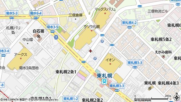 〒003-0003 北海道札幌市白石区東札幌三条の地図