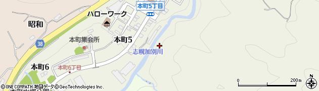 志幌加別川周辺の地図