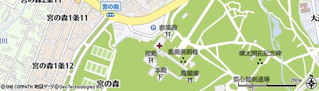 北海道札幌市中央区宮ケ丘474周辺の地図