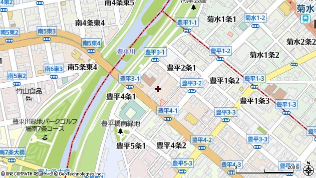 〒062-0903 北海道札幌市豊平区豊平三条の地図
