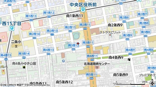 〒060-0000 北海道札幌市中央区(以下に掲載がない場合)の地図