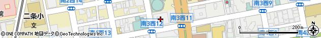 北海道札幌市中央区周辺の地図