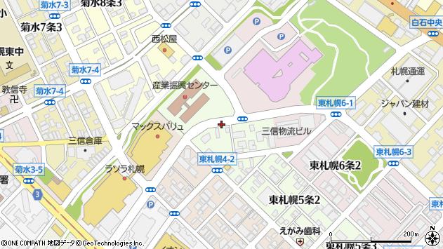 〒003-0005 北海道札幌市白石区東札幌五条の地図