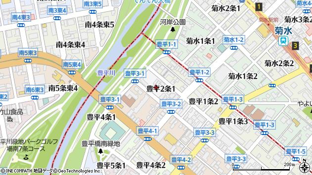 〒062-0902 北海道札幌市豊平区豊平二条の地図