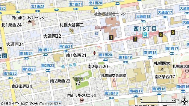 〒064-0801 北海道札幌市中央区南一条西28丁目の地図