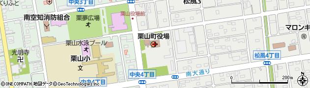 北海道夕張郡栗山町周辺の地図