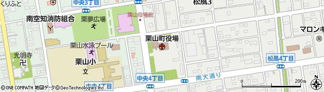 北海道栗山町(夕張郡)周辺の地図