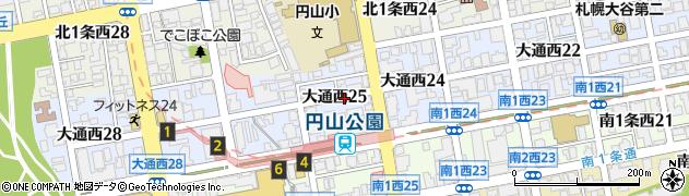 北海道札幌市中央区大通西25丁目周辺の地図