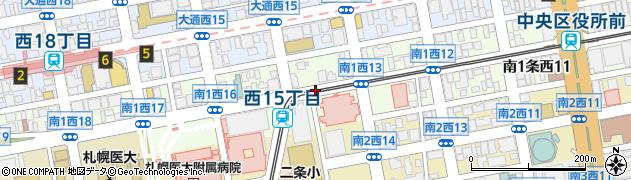 北海道札幌市中央区南1条西周辺の地図