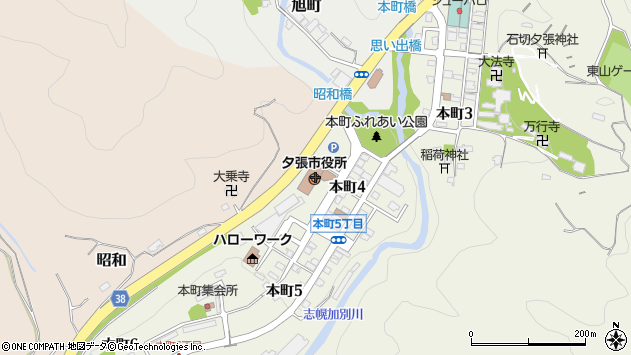 〒068-0400 北海道夕張市(以下に掲載がない場合)の地図