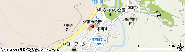 北海道夕張市周辺の地図