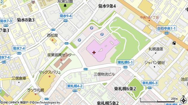 〒003-0006 北海道札幌市白石区東札幌六条の地図
