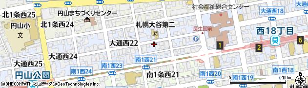 北海道札幌市中央区大通西21丁目周辺の地図