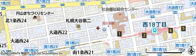 北海道札幌市中央区大通西20丁目周辺の地図