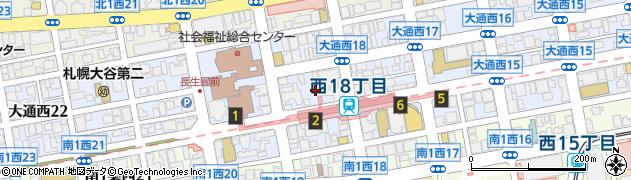 北海道札幌市中央区大通西18丁目周辺の地図