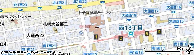 北海道札幌市中央区大通西19丁目周辺の地図