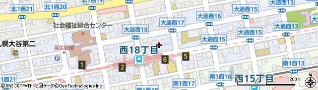 北海道札幌市中央区大通西17丁目周辺の地図