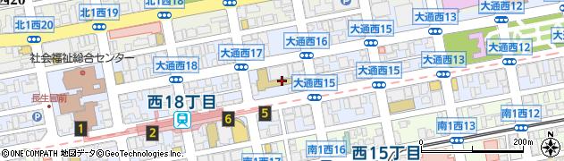 北海道札幌市中央区大通西16丁目周辺の地図
