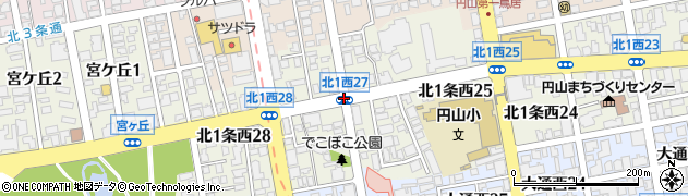 北1西26周辺の地図