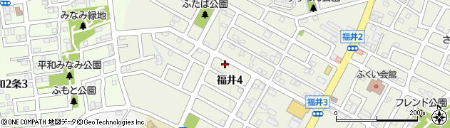 北海道札幌市西区福井周辺の地図