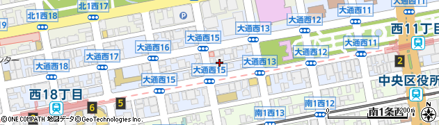 北海道札幌市中央区大通西周辺の地図