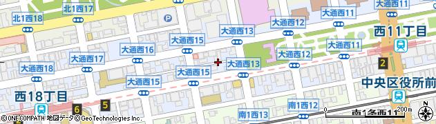 北海道札幌市中央区大通西14丁目周辺の地図