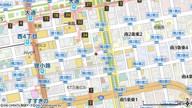 〒060-0062 北海道札幌市中央区南二条西7丁目の地図
